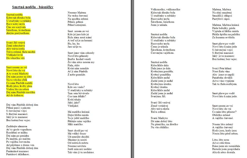 Smrtná básničky